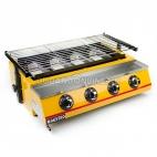 MAESTRO Panggangan Gas Roaster BBQ Kompor 4 Tungku Tanpa Asap ET K222 B