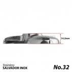 SALVADOR INOX ITALY Pisau Gilingan Daging No 32 Stainless